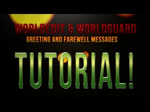 Minecraft Plugins 101: World Guard/World Edit Tutorial: Greeting & Farewell Messages videomine.ru minecraft-plugins-101-world-guard-world-edit-tutorial-greeting-farewell-messages плагины worldedit и w
