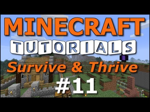 Minecraft Tutorials - E11 Cozy Cottage - Part 1 (Survive and Thrive II)