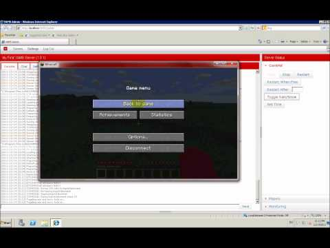 Basic Minecraft server admin with YAMS www.videomine.ru basic-minecraft-server-admin-with-yams minecraft rus server admin