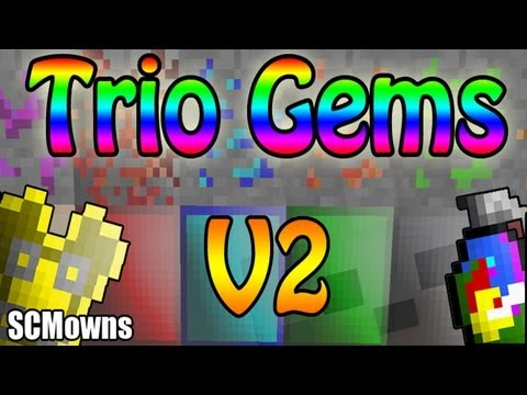 Minecraft Mods - Trio Gems Mod Version 2 Mod Review and Tutorial ( Big Update! ) майнкрафт трио
