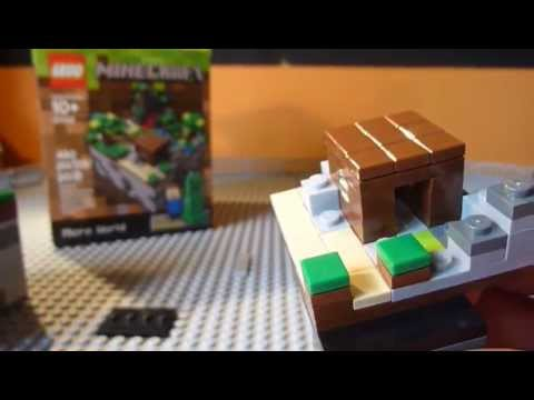 Lego Minecraft Micro-World 21120 REVIEW Лего майнкрафт www.videomine.ru lego-minecraft-micro-world-21120-review видео про лего мир майнкрафт