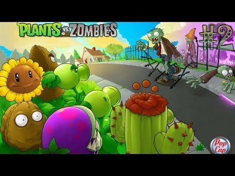 Играем в Plants vs Zombies (Растения против зомби) - Серия 2 зомби против растений 2 играть онлайн бесплатно игры растение против зомби 2 видео растения против зомби