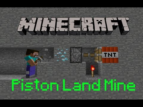 Тайны Майнкрафт - Minecraft: How To Make a Piston Land Mine
