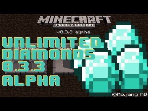 Minecraft Pocket Edition - Unlimited Diamonds in Version 0.5.0 Alpha iPod/iPad/iPhone/Android сиды майнкрафт 0.5.0 как в майнкрафте сделать замок 0.5.0 minecraft pocket edition ipad 0.5.0.